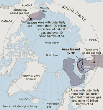 map of 02. ArcticOilAndGasMap2011-02-27.jpg. Source of map: online version of the NYT